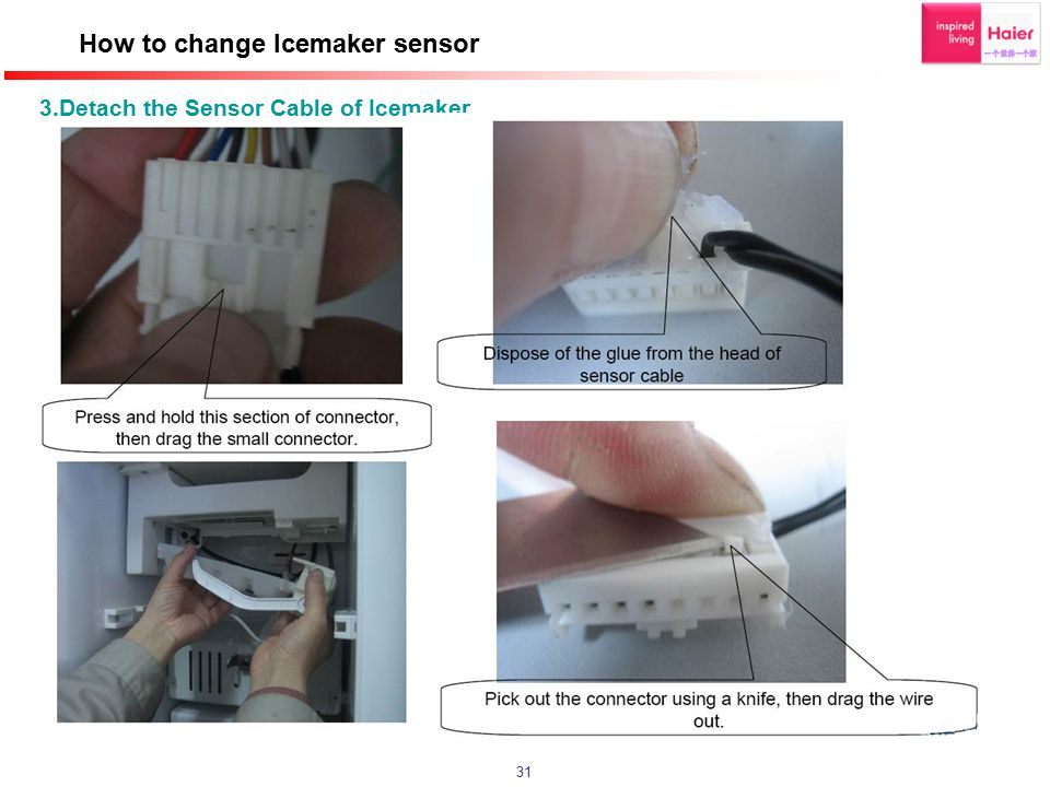 How to change Icemaker sensor
