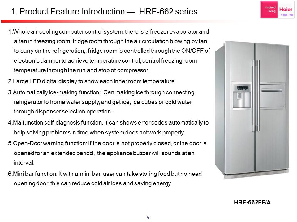 1. Product Feature Introduction — HRF-662 series