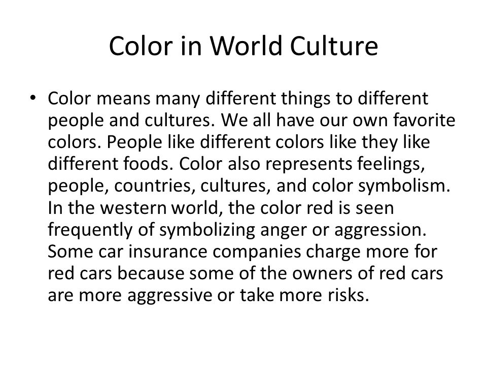 What Do Colors Mean To You Ppt Video Online Download