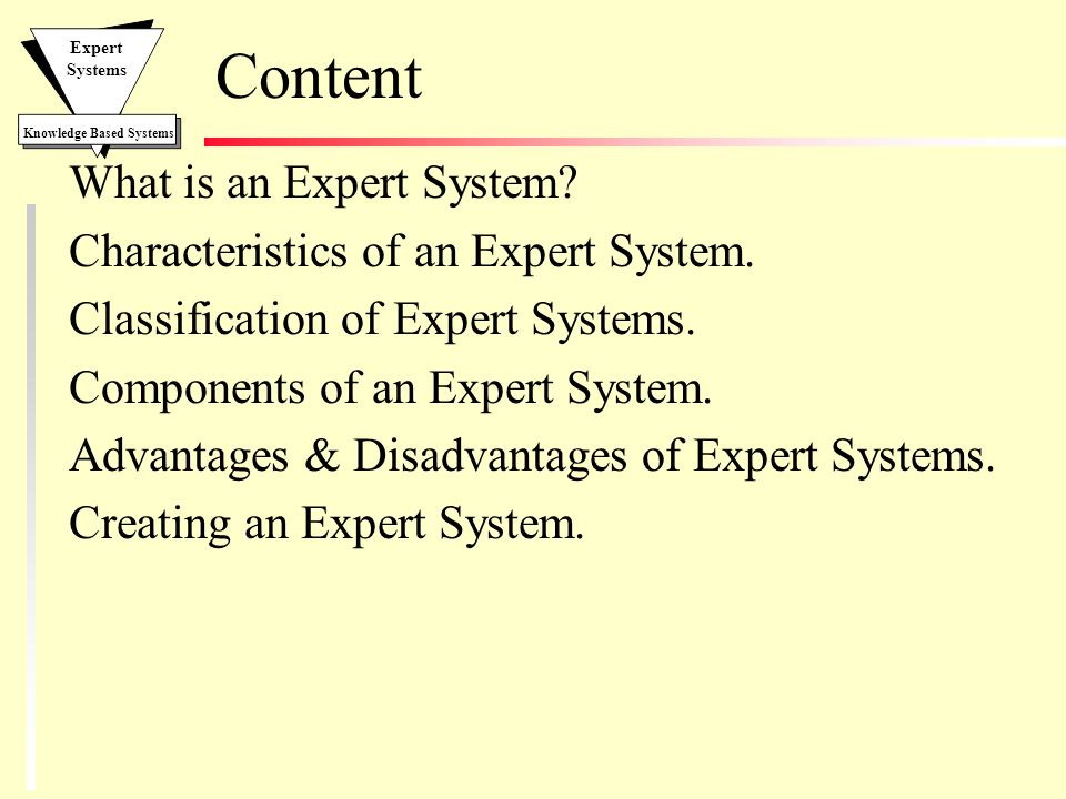 Expert Systems  - ppt video online download