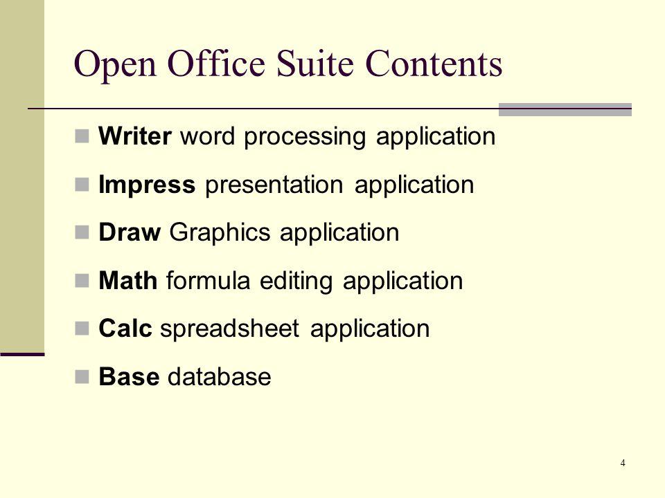 Open Office Math Formula