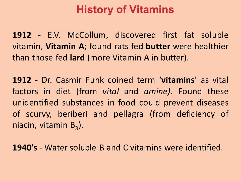 Making History With Vitamin C Powerpoint: What Are Vitamins? Tasteless Organic Compounds