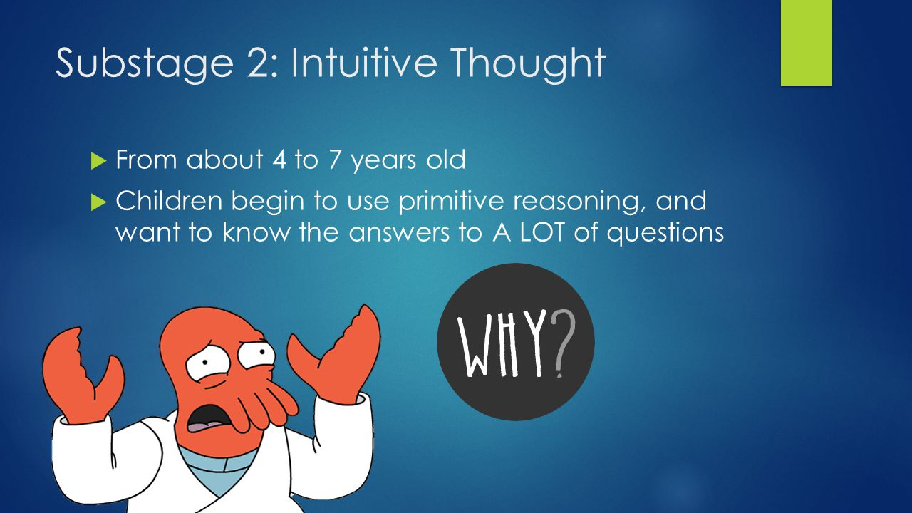 Substage 2: Intuitive Thought