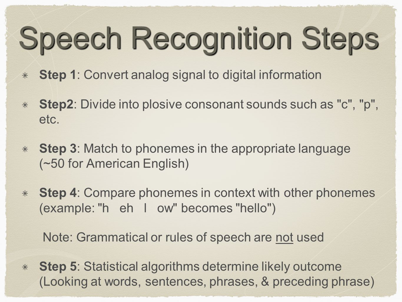 Speech Recognition Can you hear me?  - ppt video online download