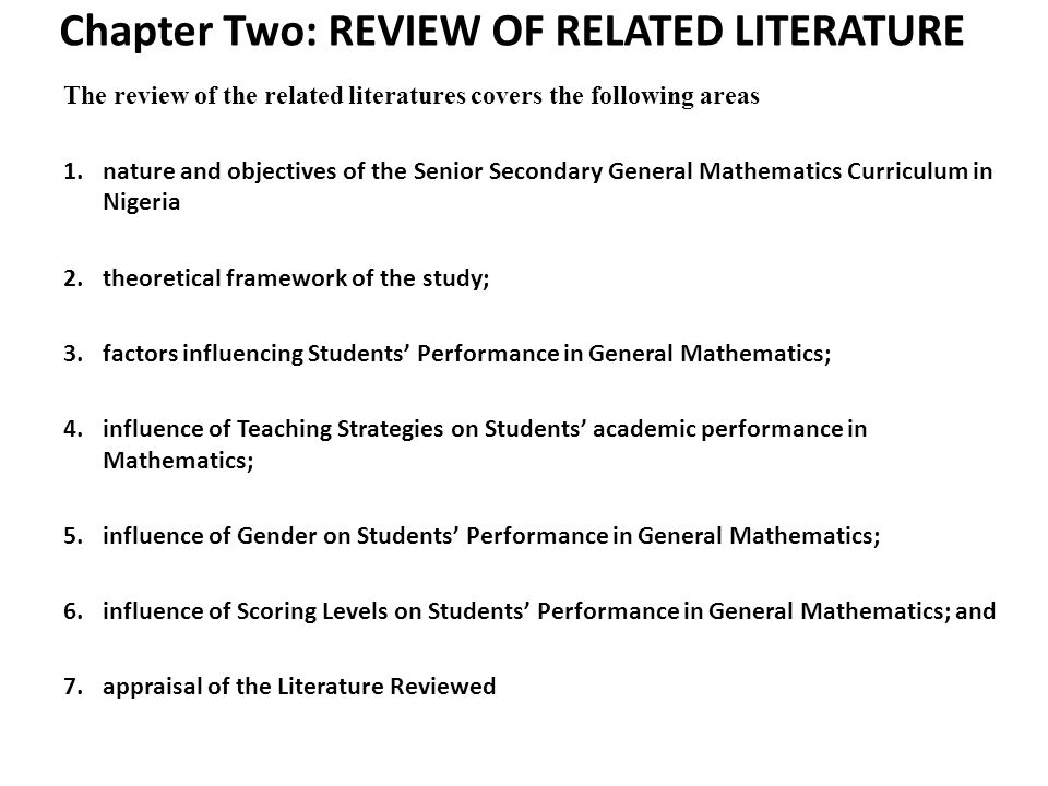 related literature on academic performance