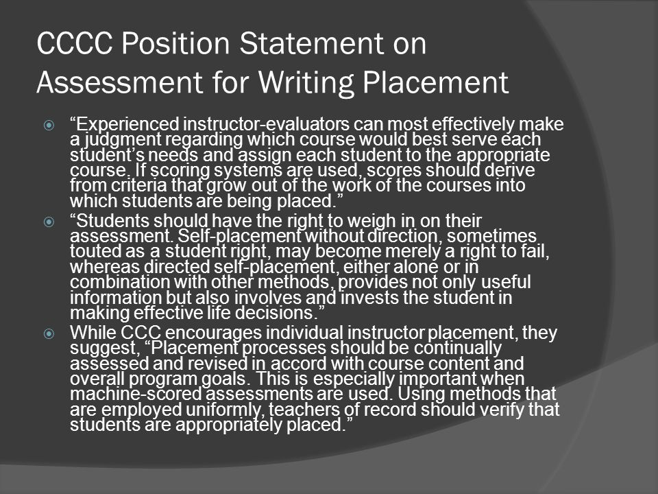 writing assessment examples
