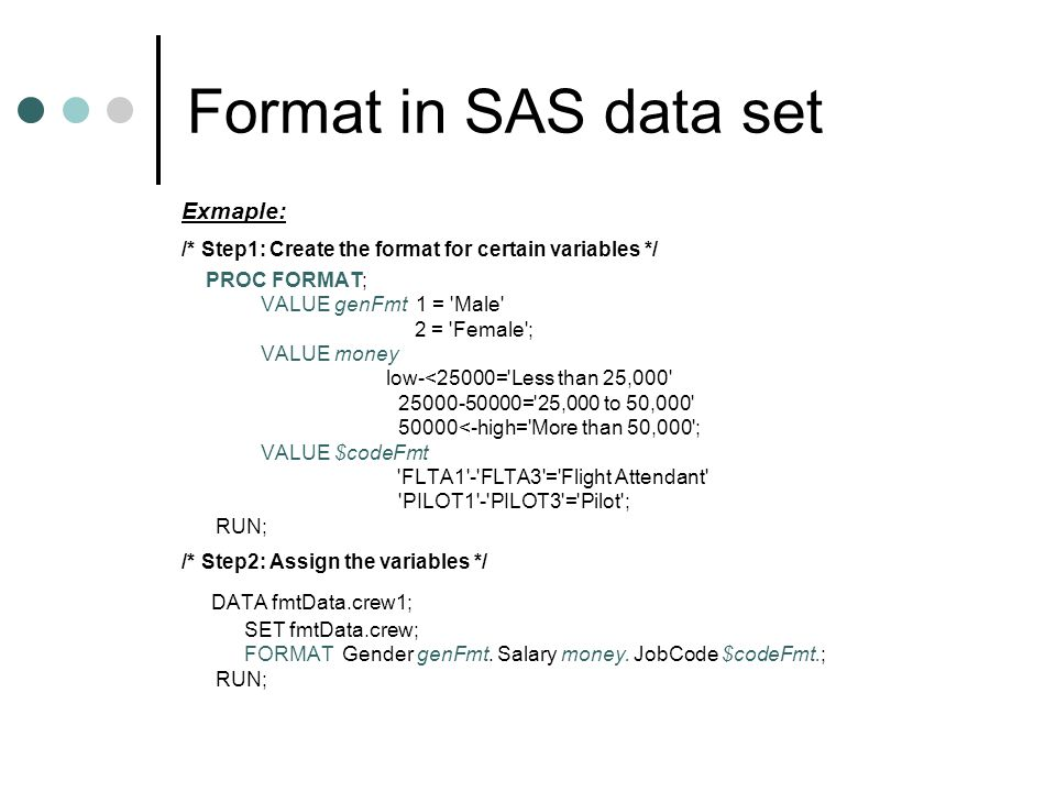 Try These Sas Proc Format Character Example {Mahindra Racing}