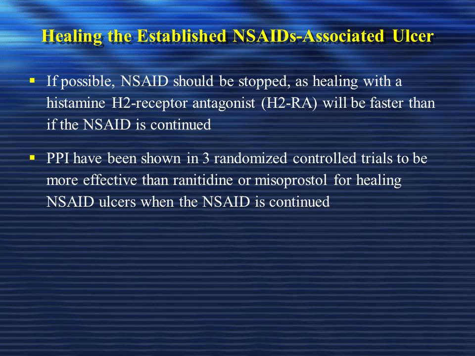Healing the Established NSAIDs-Associated Ulcer
