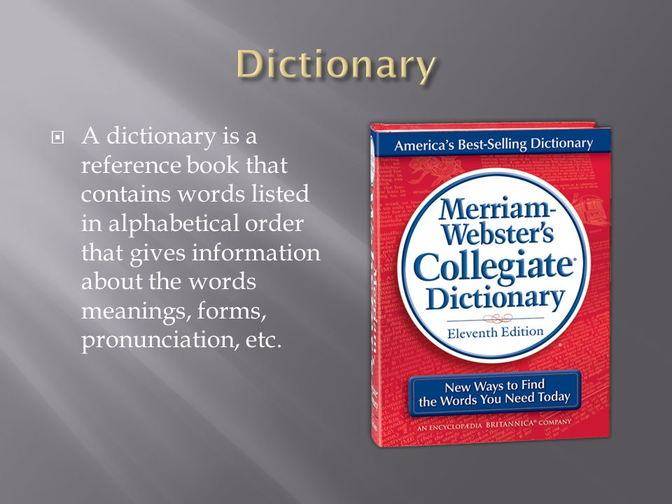 Reference Materials: Dictionary, thesaurus and glossary