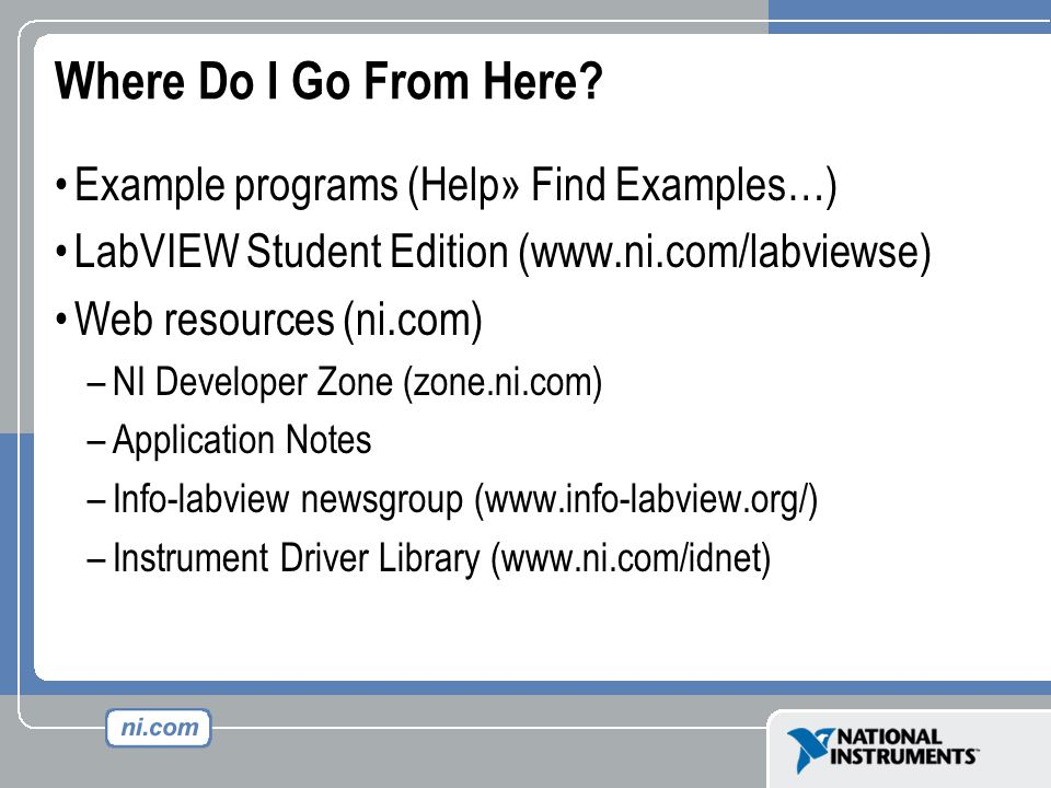 Instrument Drivers Labview