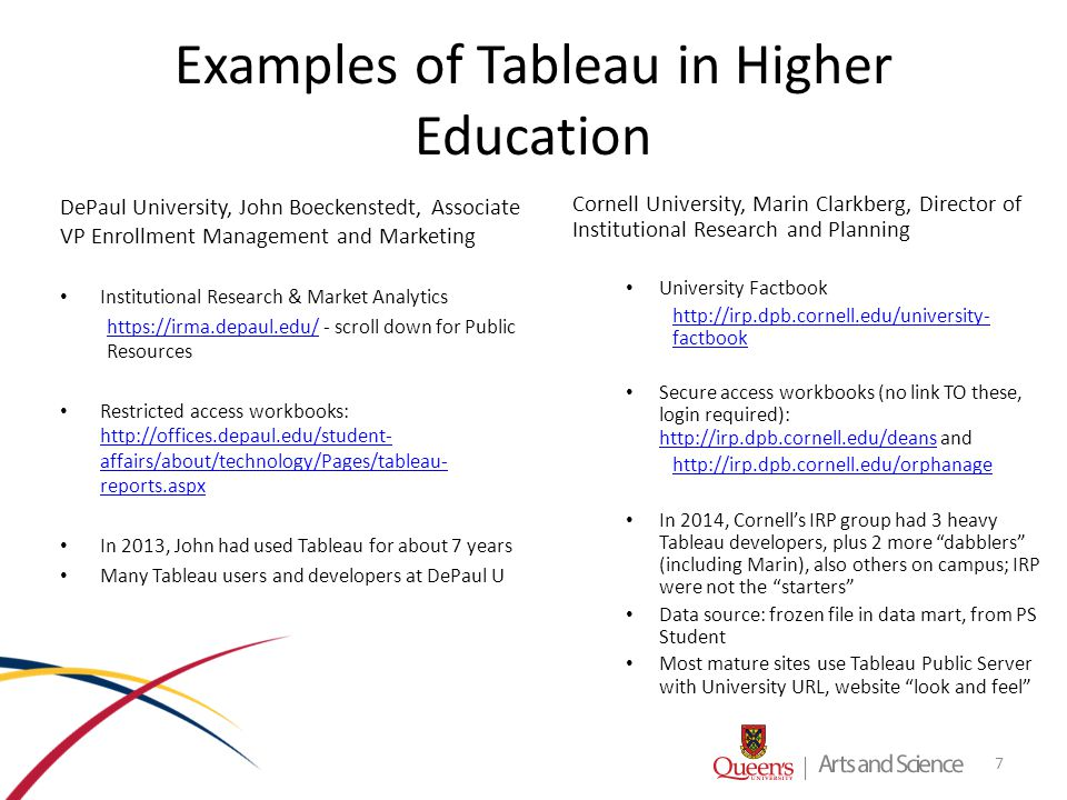 Graphics Visualization using Tableau in Arts and Science - ppt video