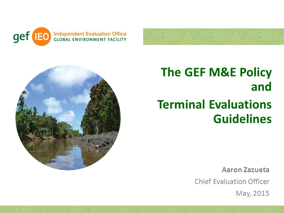 Terminal Evaluations Guidelines