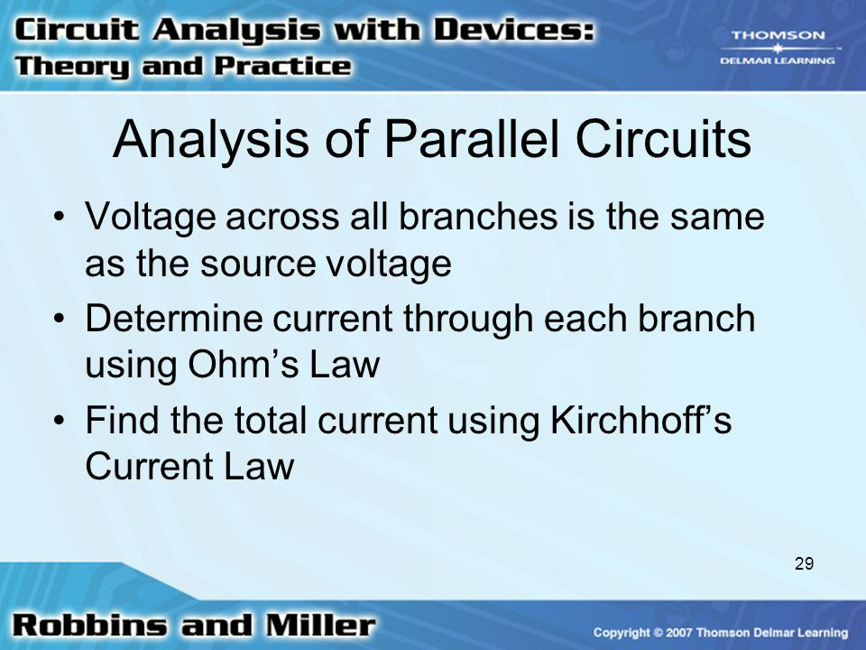 Analysis of Parallel Circuits