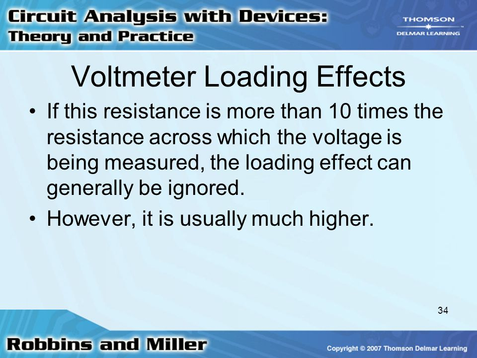Voltmeter Loading Effects