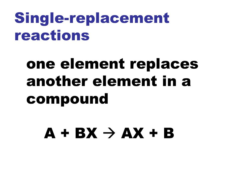 Single-replacement reactions