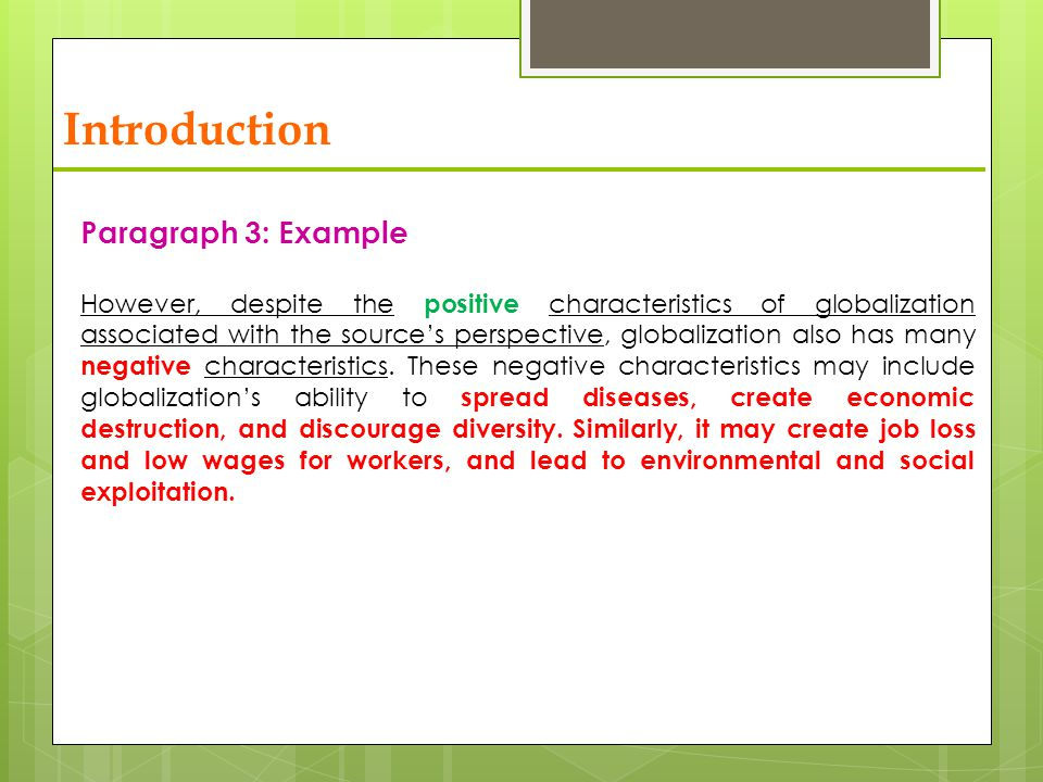 social   globalization   ppt video online download  introduction paragraph