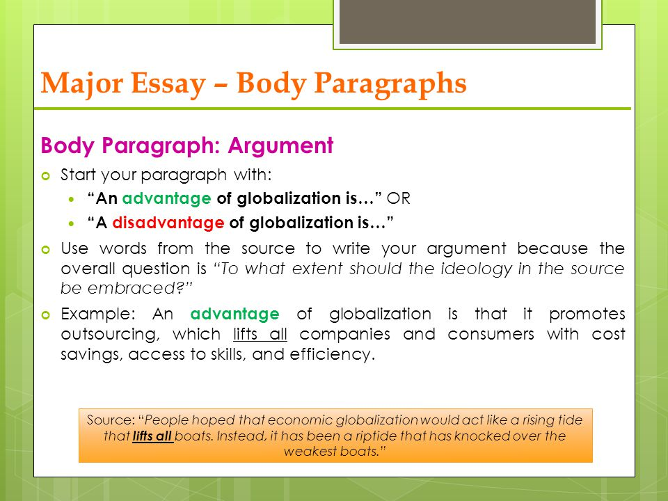 essay about globalization advantages and disadvantages Home free essays advantages and disadvantages of globalization globalization is the integration of states through increasing contact, communication and trade to create a single global system in which the process of change increasingly binds people together in a common fate.