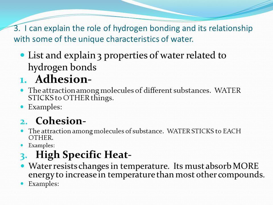 4 special properties of water