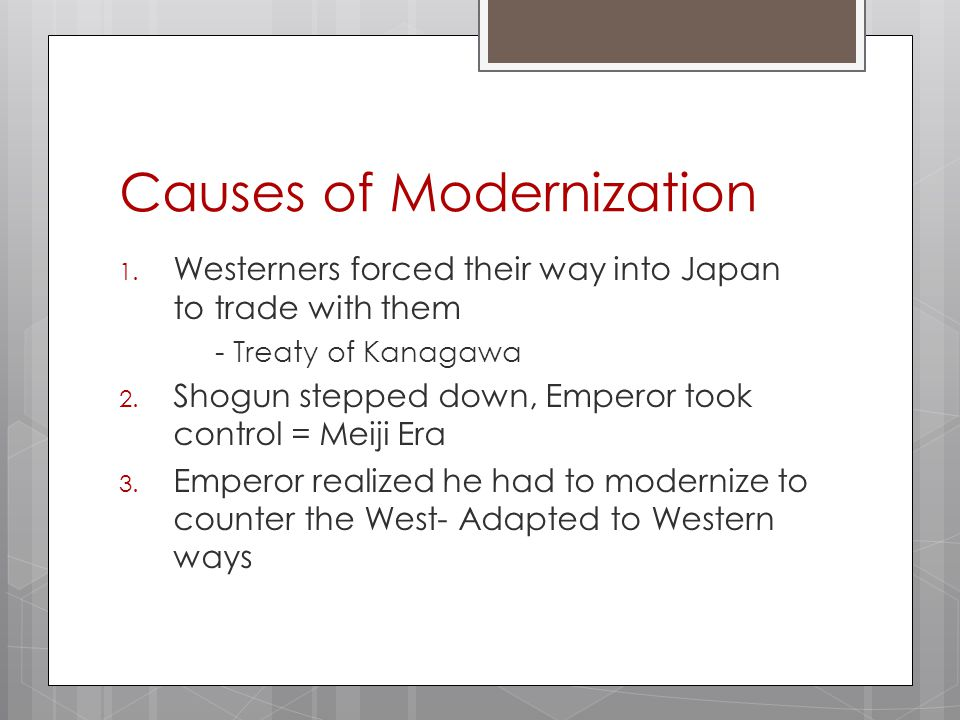 causes of modernization