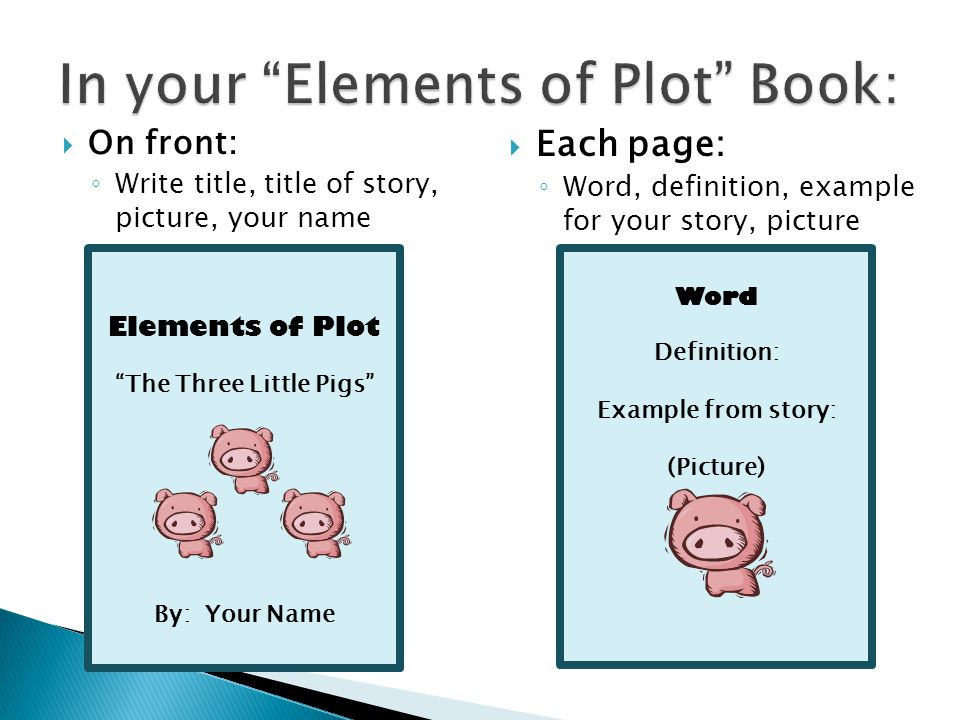 In Your Elements Of Plot Book