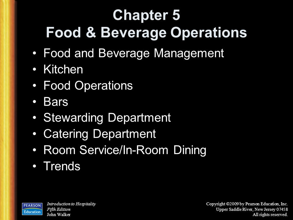 Management Of Food And Beverage Operations 5th Edition Pdf
