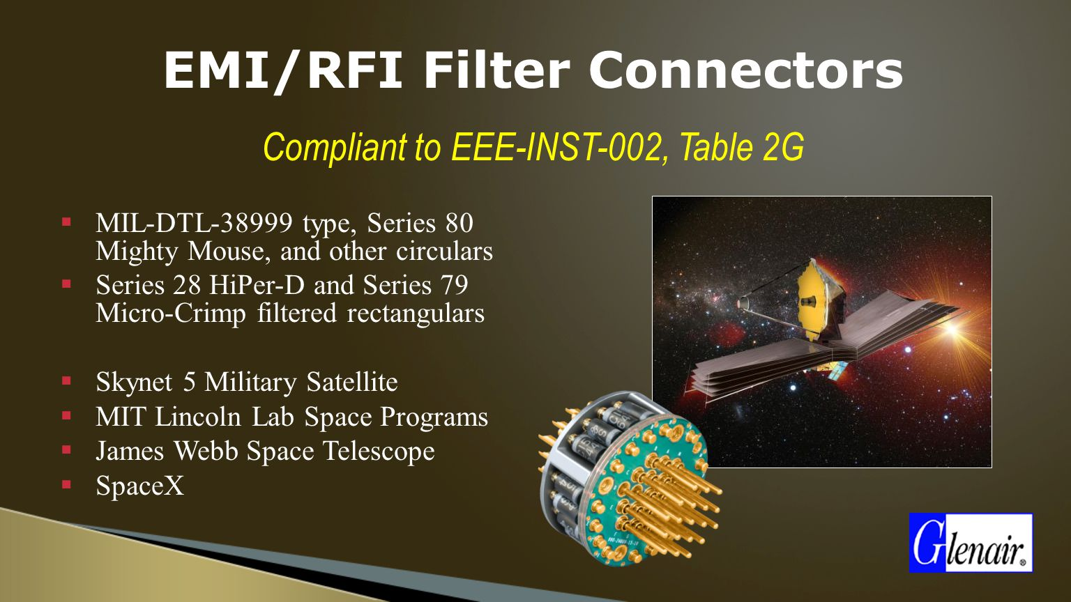 Space-Grade Interconnect solutions - ppt video online download