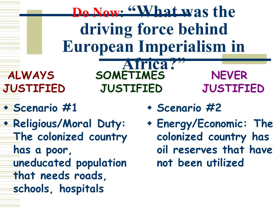 how was imperialism justified
