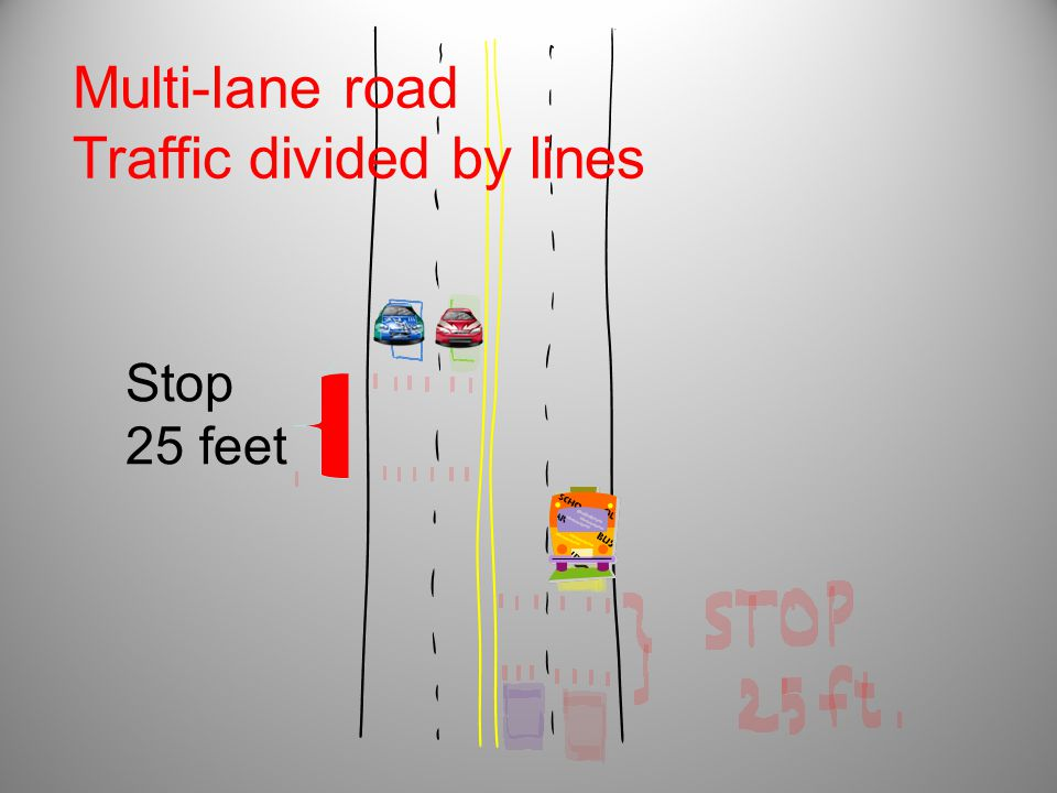 Traffic divided by lines
