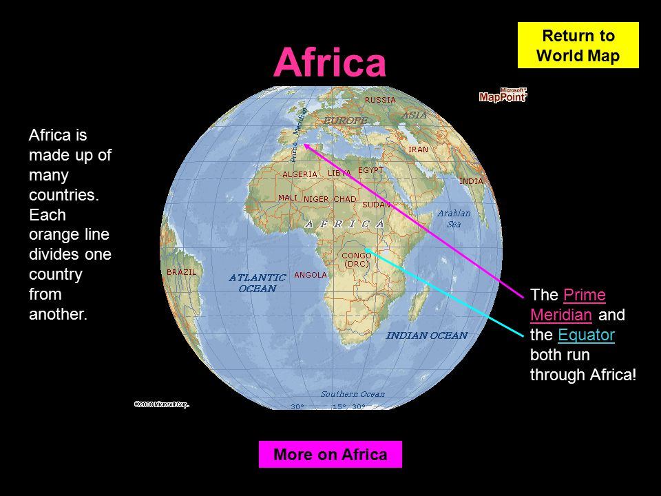 Learning about the earth ppt video online download 19 africa return to world map gumiabroncs Images