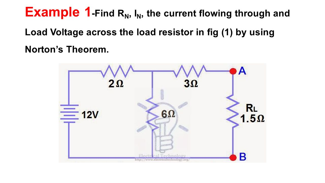 Chapter 2 Network Theorems Ppt Video Online Download Circuit Example Solved Problems Based On Thevenin Theorem 81 1 Find Rn In The Current Flowing Through And Load Voltage Across Resistor Fig By Using Nortons