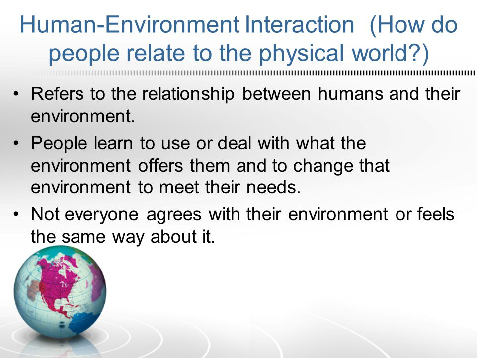 what is the relationship between humans and the environment