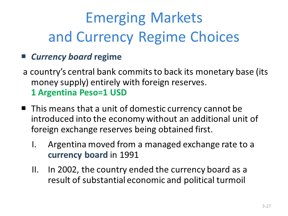 Emerging Markets and Currency Regime Choices