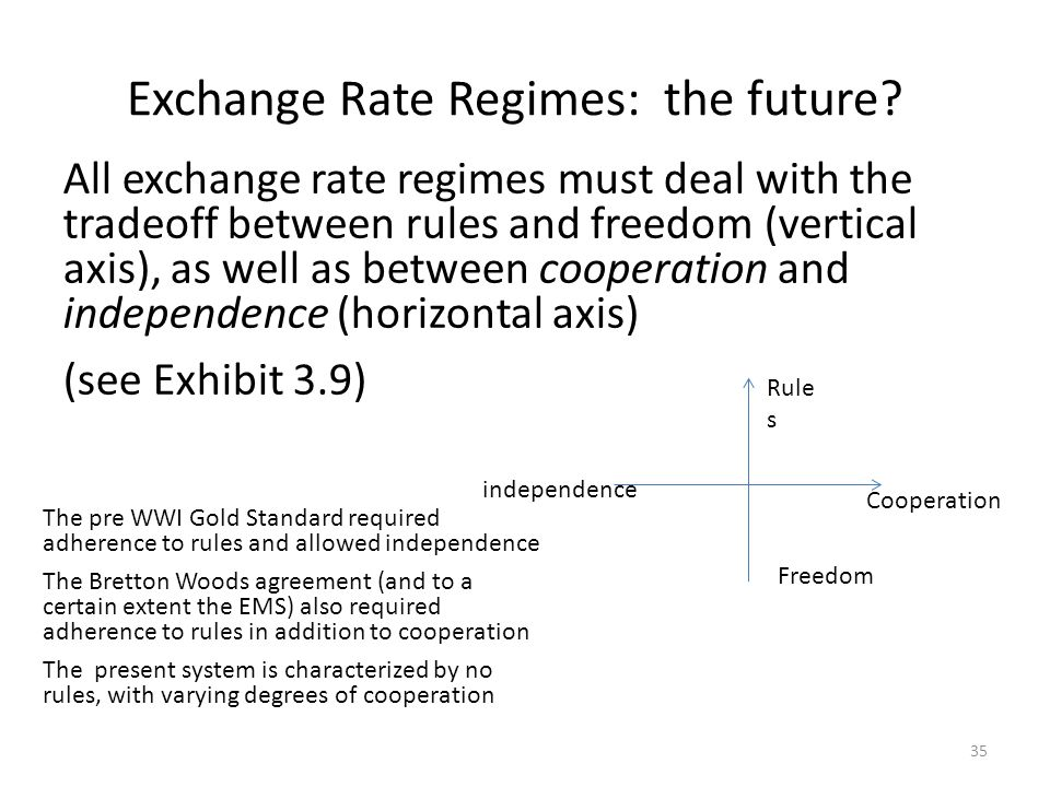 Exchange Rate Regimes: the future
