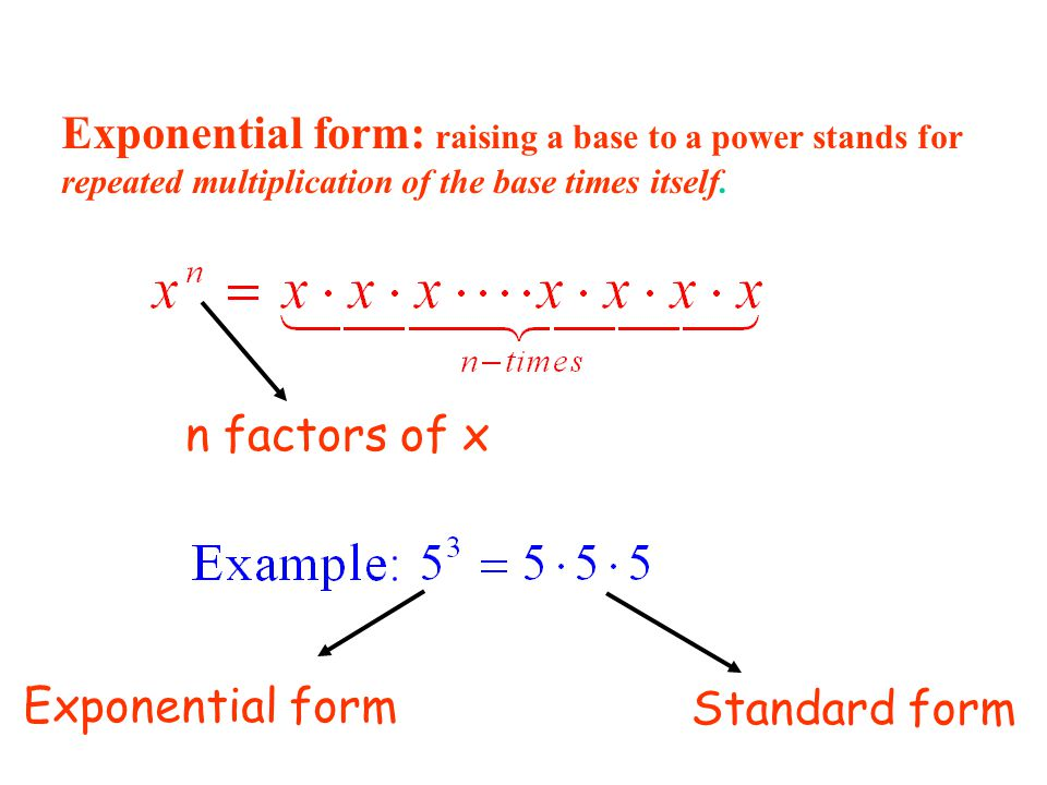 How Do You Write Exponents In Standard Form Gallery Free Form