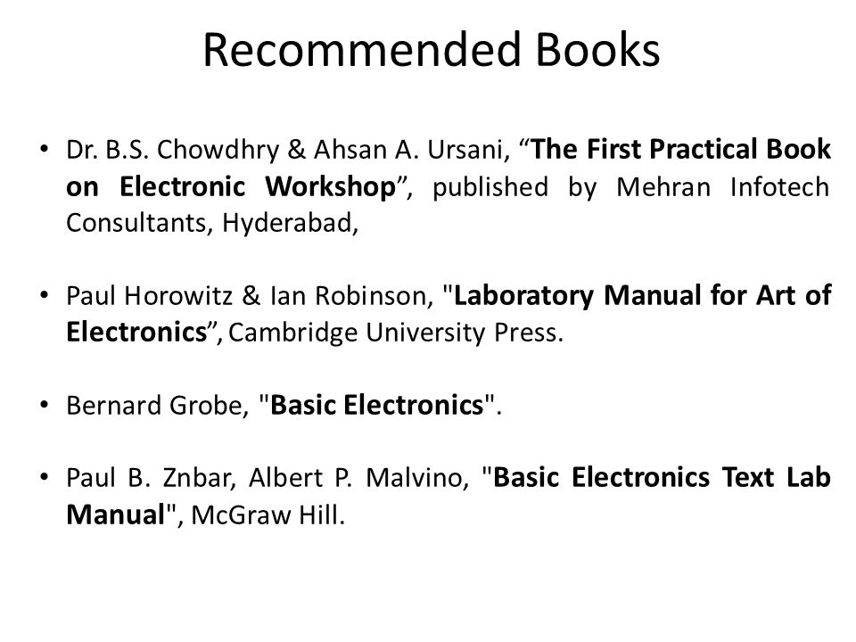 lab manual to accompany introductory electronic devices and circuits