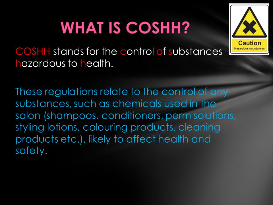 WHAT IS COSHH