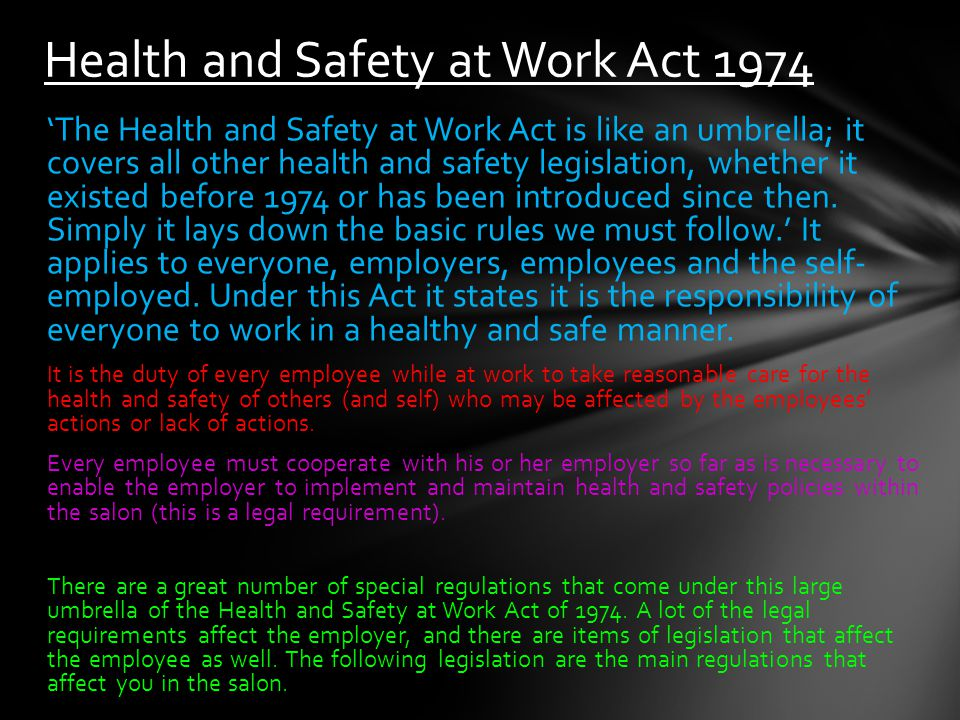 health and safety at work pdf
