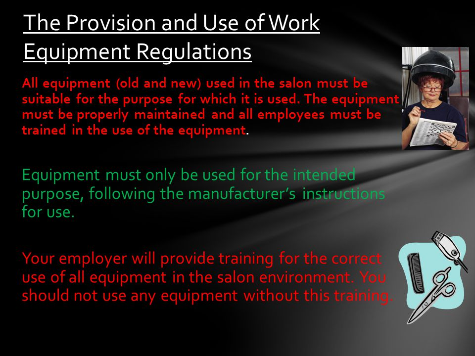 The Provision and Use of Work Equipment Regulations