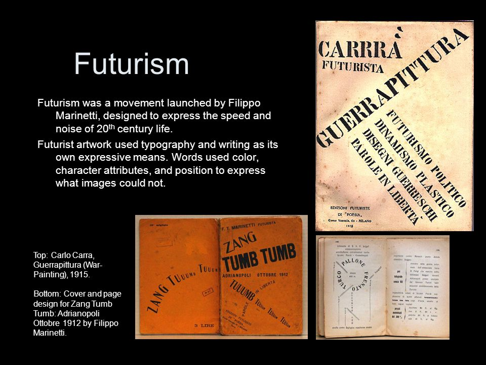 burroughs not marinettis futurist The joy of mechanical force by f t marinetti (the foundation of futurism [manifesto of futurism, 1909], translated from the french by eugen weber, reprinted by permission of dodd, mead and company from paths to the present by eugen weber.