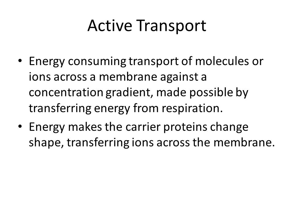 Active Transport