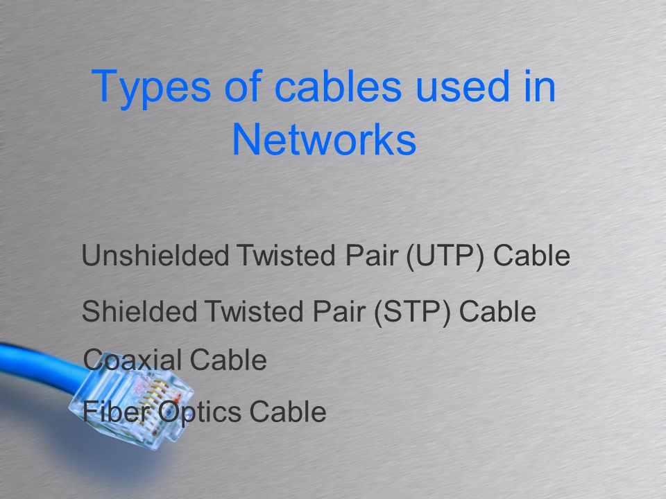 Network Cabling and Wireless Network - ppt download