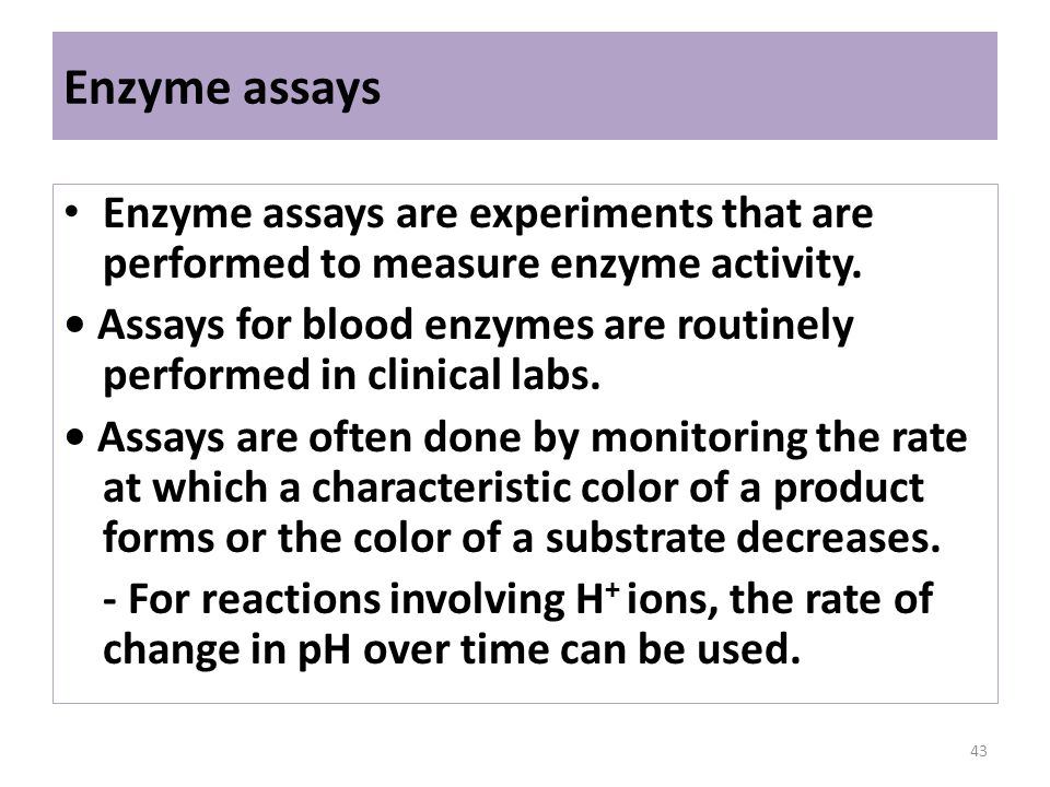 how to measure enzyme activity in lab