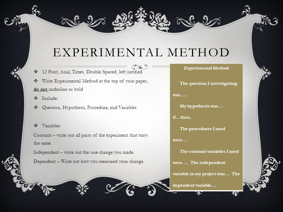 how to find out experimental hypothesis