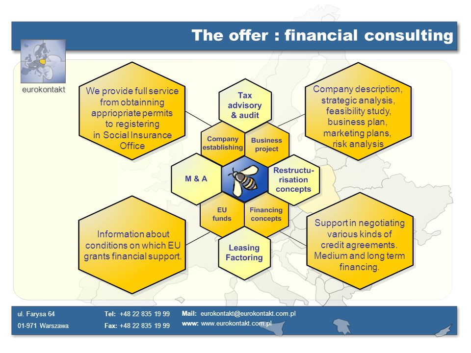 The offer : financial consulting