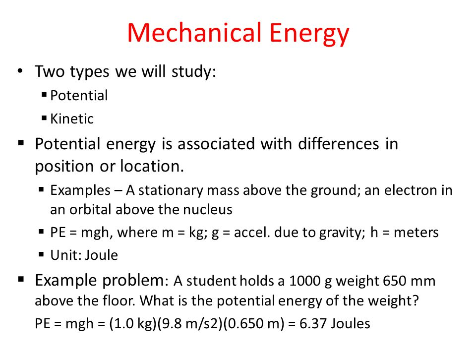 Mechanical Energy Copy These Notes Into Your Journal Ppt Video