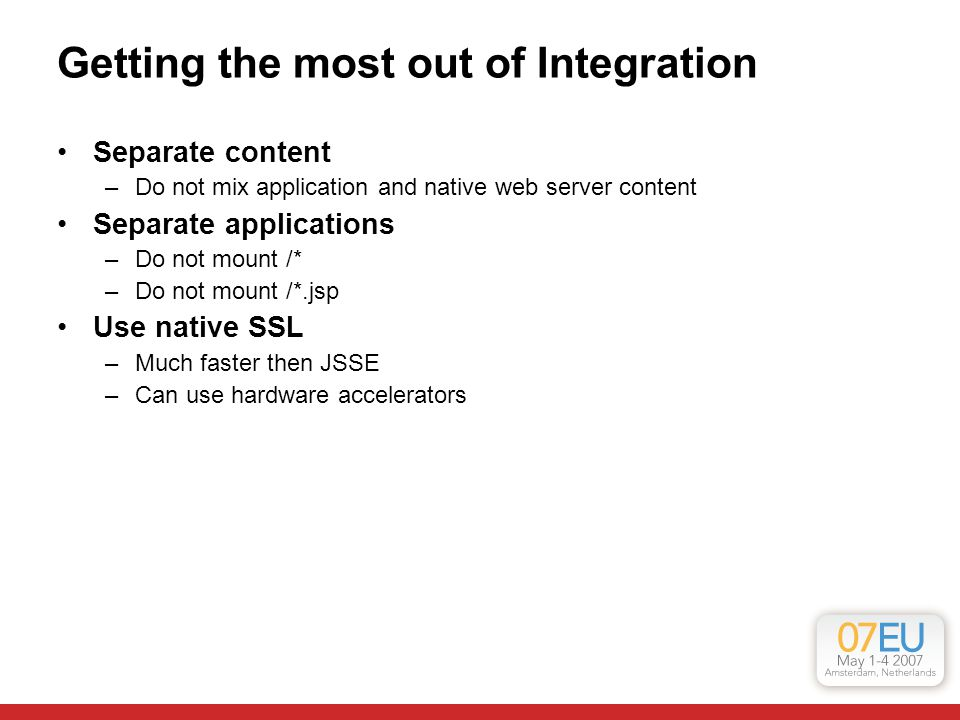 Getting the most out of Integration
