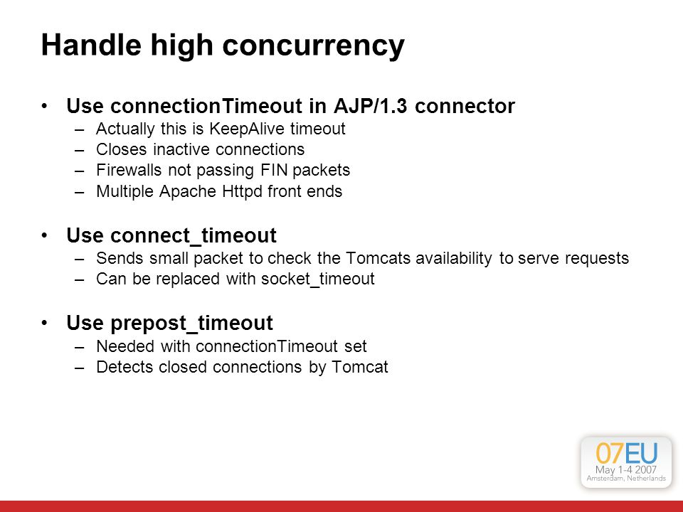Handle high concurrency