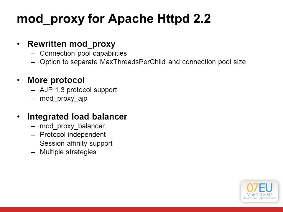 mod_proxy for Apache Httpd 2.2
