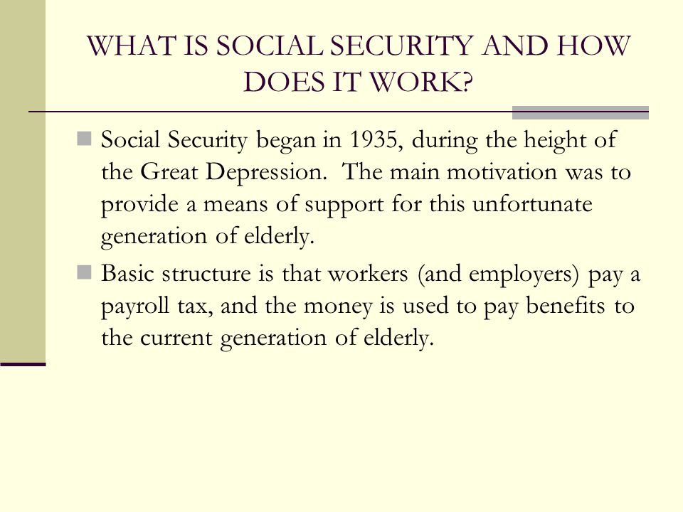 Chapter 13 Social Security - ppt download