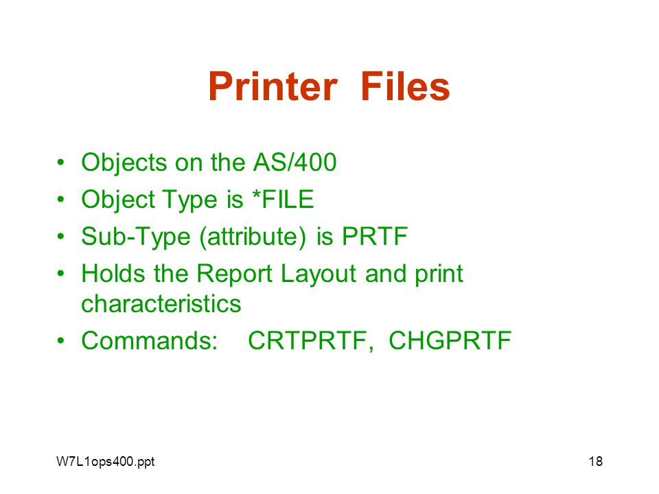 The AS/400 and the printing process - ppt download